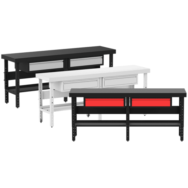 Work Tables with Drawers