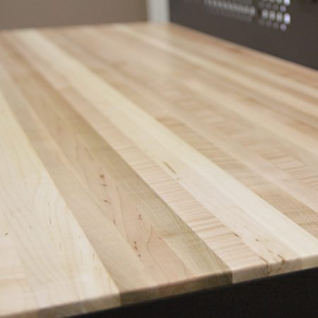 Butcher Block Wood Top Closeup